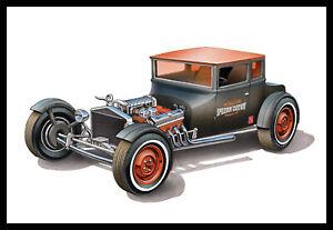 "AMT 1167 1/25 1925 Ford T ""Chopped"" Plastic Model Kit"