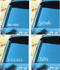 Custom name personalised car van laptop ipad bumper sticker decal