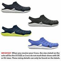 Crocs Swiftwater Wave Summer Beach Pool Sandals in Navy Blue Jean & Black 203963