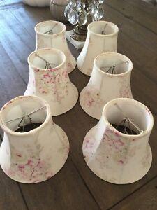 Simply Shabby Chic Rachel Ashwell Chandelier Lamp Blush Beauty Rose  Set Of 6