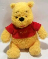 Disney Winnie The Pooh Bear Stuffed Yellow Animal Red Shirt Plush Toy Fluffy