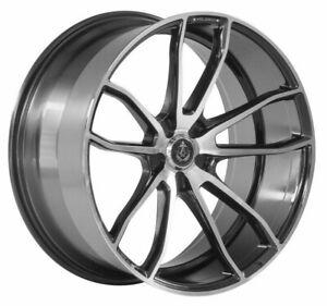 "22"" AXE EX33 Alloy Wheels Black Machined 5x130 fit Porsche Cayenne"
