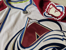 $300 COLORADO AVALANCHE AUTHENTIC NHL REEBOK EDGE HOCKEY JERSEY W/ FIGHT STRAP