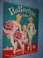 1953-60 Merrill- Ballerina Dolls, paper doll #1554, Uncut Original!