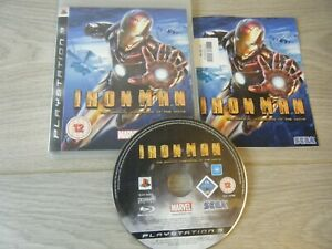 IRON MAN OFFICAL VIDEO GAME PLAYSTATION 3 GAME WITH MANUAL