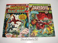 Daredevil #106 & 110 Comic Lot Marvel 1973 Black Widow Moondragon Thanos War HTF