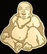 2017 LAUGHING BUDDHA 24K Gold Coin - $1 Dollar Coin Capsule+COA - PALAU..