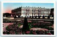 VTG RPPC Real Photo Palace Versailles France French Color Tint Flowers A2