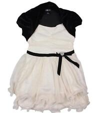 AMY BYER NWT TODDLERS GIRLS WHITE BLACK SPARKLE Party Style DRESS 4 NWT
