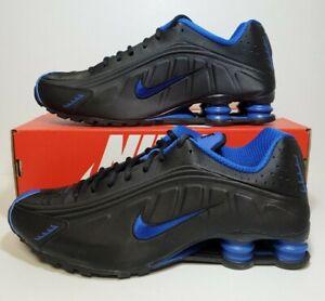 Nike Shox R4 Black Game Royal Blue 104265 053 Running Shoes Mens Size 10 Shoes