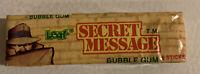 Secret Message Vintage 1970s NOS Unopened Sealed Chewing Bubble Gum Candy Leaf