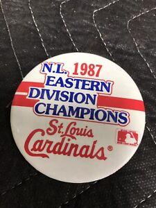 "Vintage St Louis CARDINALS Eastern Division Champions 1987 Pinback 3"" Button"