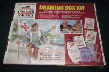1992 CHRISTOPHER COLUMBUS comes America Drawing Box Kit Home school History new
