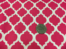 "BTY~FABRIC FINDERS 100% COTTON FABRIC~ LARGE QUATREFOIL ~ RASPBERRY ~59""W"