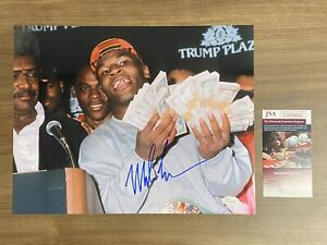 MIKE TYSON signed Money Trump Plaza Autograph JSA 11x14 Photo