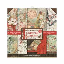 1 Set Scrapbooking Papier Stamperia 20,3x20,3 cm SBBS09 Oriental Garden