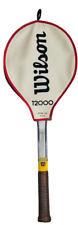 Wilson T2000 Tennis Racket Leather Handle With Case Vintage Made in USA