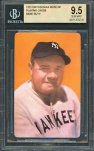 1973 smithsonian museum playing cards BABE RUTH new york yankees BGS BVG 9.5