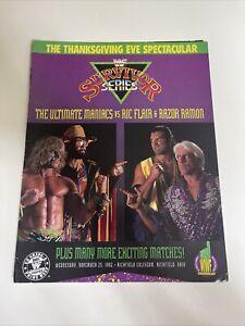WWF Survivor Series 1992 Wrestling Magazine Program ~ Ric Flair, Ultimate Maniac