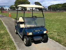 2003 blue club car DS 48 volt 4 passenger seat golf cart IQ FAST 21 mph