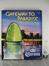 WALL ART PRINT CANVAS 20X24 CORONA 👑 BEER GATEWAY TO PARADISE NEW ST LOUIS ARCH
