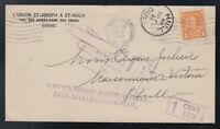 Canada 1932 1c Arch POSTAGE DUE RETURNED Cover QUEBEC CITY to HULL