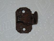 Antique Cast Iron Metal Victorian Old Salvage Wall Mount Oak Desk Clip / Holder