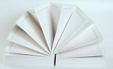 Leporello 15x21(20 Seiten) weiss,(III-weiß) dünner Rahmen