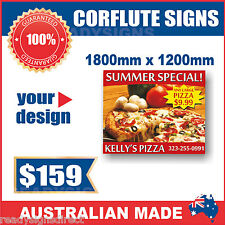 Custom Corflute Signs 1800mm x 1200mm x 5mm  - Australian Made