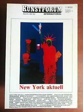 Kunstforum International Bd 61 Mai 1983 New York Aktuell
