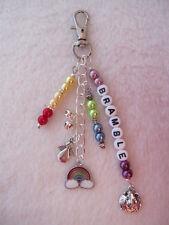 Personalised Guinea Pig / Pet Memorial Key / Bag Charm - Pet Loss Rainbow Bridge
