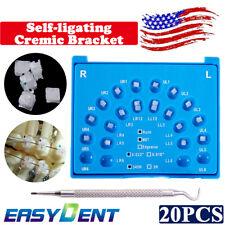Dental Orthodontic Self Ligating Ceramic Brackets Rothmbt 022 345 Withhooks 20pcs