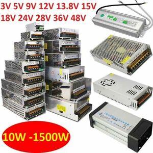 10W to 1500W DC Regulated Switching Power Supply 3V 12V 24V to 48V Universal PSU