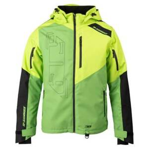 509 Mens R-200 INSULATED Snowmobile Winter ACID GREEN JACKET - MEDIUM or LARGE