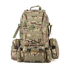 65L Outdoor Hiking Camping Bag Military Molle Tactical Backpack Rucksacks Camo