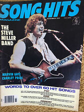Song Hits Magazine 11/77 Steve Miller Band Marvin Gaye Charley Pride