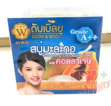 W Soap Papaya Whitening Collagen Cleanser Acne Skin Facial Body Face Vitamin E C