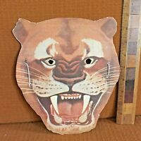 ORIGINAL 1950s MOUNTAIN LION KELLOGGS CEREAL BOX CUT-OUT HALLOWEEN MASK + STRING