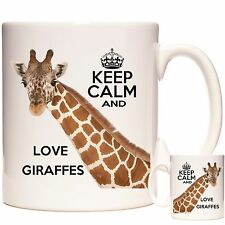 Giraffe Tazza, Keep Calm and Love Giraffe. Coaster abbinati disponibili.