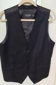 Topman mens tailored vest size 42