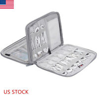 Electronics Accessories Organizer Travel Storage Hand Bag Cable USB Drive Case#