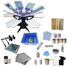 TECHTONGDA Model-S Grade 6 Color 6 Station Screen Printing Kit with Material Kit