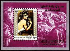 Aden Upper yafa 1967 ** bl.13 pinturas pinturas Caravaggio