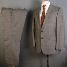 DAKS Suit 39r 40r 36w 28l marrone lana Principe di Galles Controllo