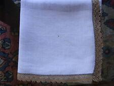 N04 ANCIEN MOUCHOIR linon et dentelle Old linen veil & lace handkerchief