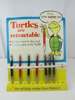 Vintage Neat Old 1960s TURTLES RITEPOINT Marker Pen Store Display Advertising