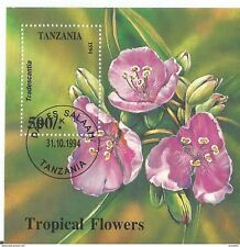 Block 263 Tropical Flowers Block Tansania Erstagsstempel 31.10.94