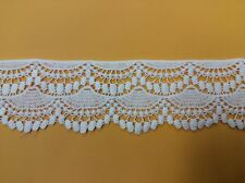"Scalloped Cotton Lace Venise Edging Trim Off White 3"" 14yds High Quality"