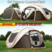 4-6 Person Instant Up Camping Tent Pop up Tents Family Outdoor Hiking Dome Camp