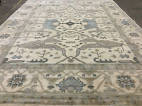 9x12 MUTED HAND-KNOTTED RUG WOOL handmade modern contemporary neutral handwoven